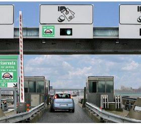 Un casello del car pooling di Autostrade per l'Italia