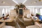 L'interno di un Jet di Air Partner, società specialista nel noleggio di jet privati e aerei charter