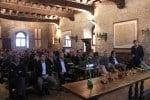 Mauro Mollo durante la presentazione a banche e fornitori