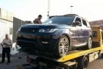 Il recupero dei Range Rover a Porto di Salerno