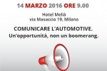 Forum Automotive, Milano 14 marzo 2016