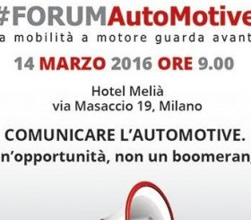 Forum Automotive, Milano 14 marzo 2016