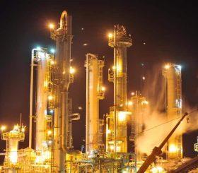 La produzione industriale nella zona euro.
