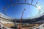 Una macchina Jlg nella costruzione del Wanda Metropolitano
