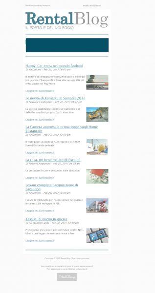 Posizione banner newsletter Rental Blog