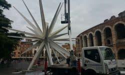 Una autocarrata italiana della Scaligera Service