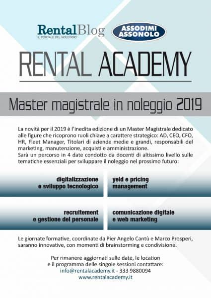 Master Magistrale Rental Academy 2019