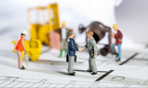simulazione di un cantiere con pupazzetti