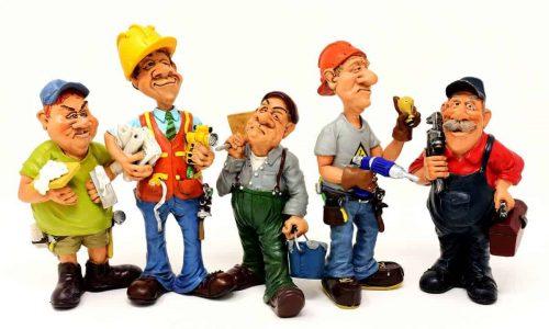 pupazzi che rappresentano le varie tipologie di lavoratori