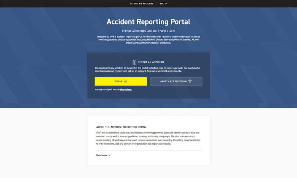 IPAF lancia il nuovo portale di segnalazione degli incidenti