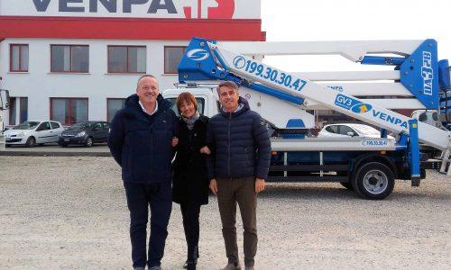 Mendes Migotto (a sinistra) con Emanuela Pege e Andrea Migliorini